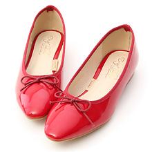 D+AF 漆皮低跟芭蕾娃娃鞋