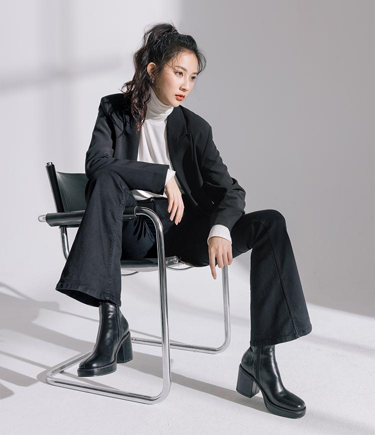 黑色短靴穿搭推薦 秋冬黑色短靴穿搭指南,黑色短靴實用搭配術