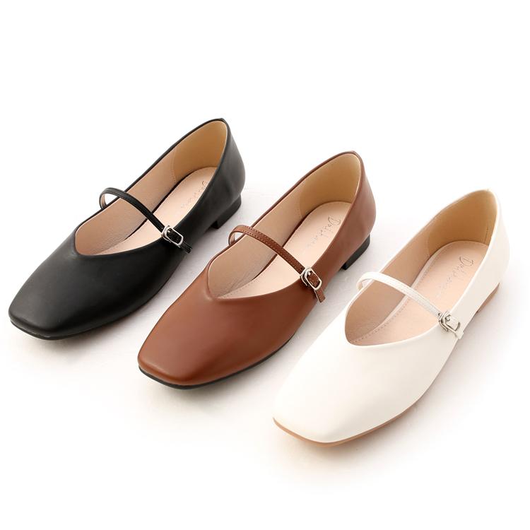 D+AF精緻細帶V口瑪莉珍鞋
