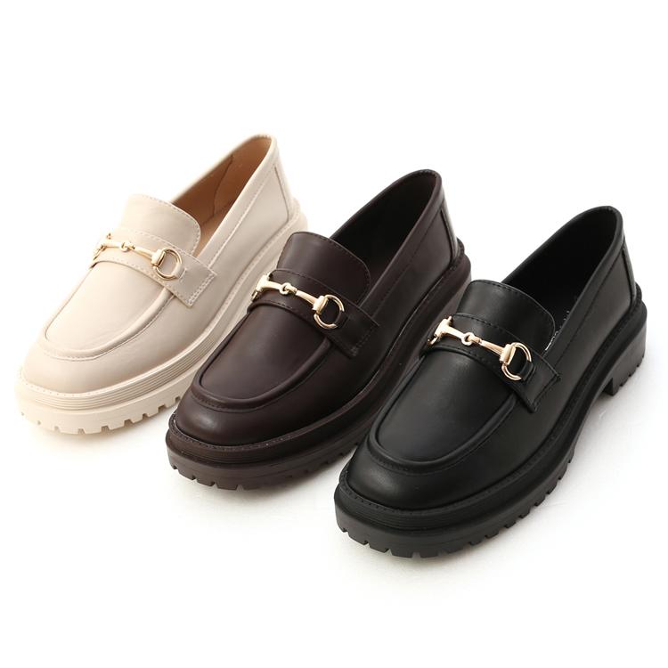 D+AF鬆糕底馬銜釦樂福鞋