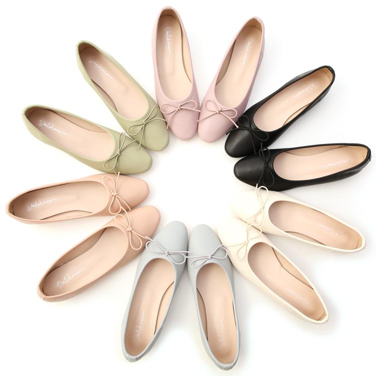 D+AF小蝴蝶低跟芭蕾娃娃鞋