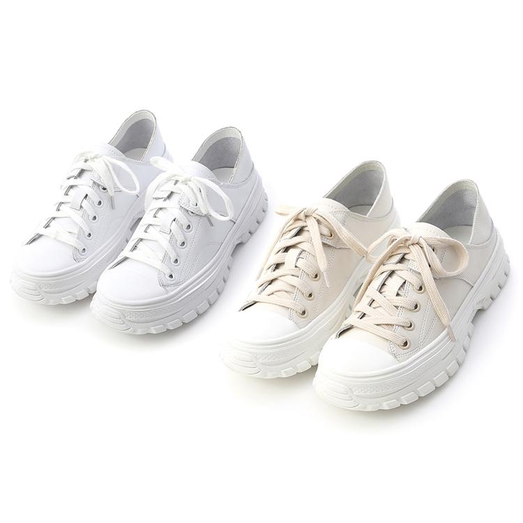 D+AF可後踩真皮綁帶休閒鞋
