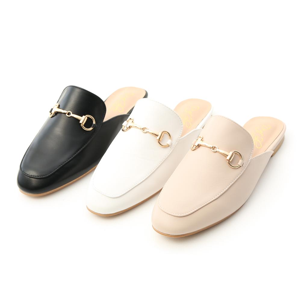 D+AF 潮流馬銜釦平底穆勒鞋 穆勒鞋推薦