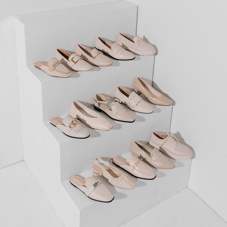 D+AF 鋸齒鞋 樂福鞋 後空鞋 瑪莉珍鞋 穆勒鞋 早春流行