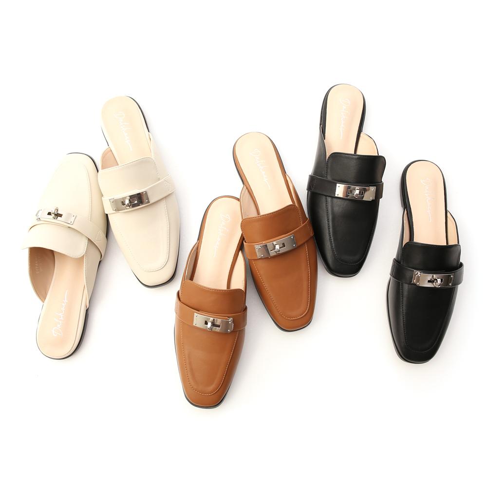 D+AF金屬鎖釦平底穆勒鞋 穆勒鞋推薦 早春流行
