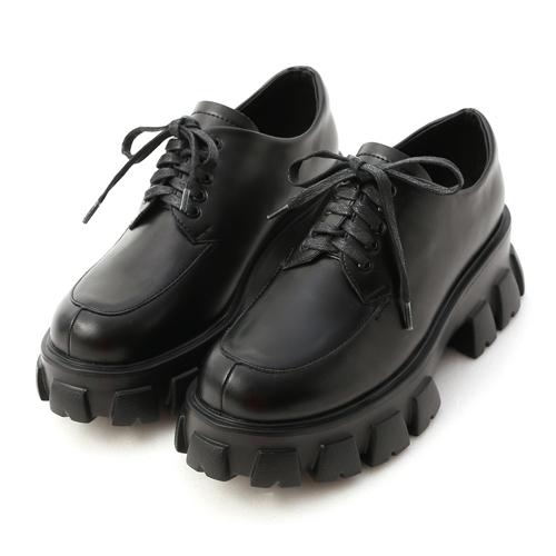 視覺焦點.輕量鋸齒底綁帶牛津鞋 黑色牛津鞋 綁帶鋸齒鞋