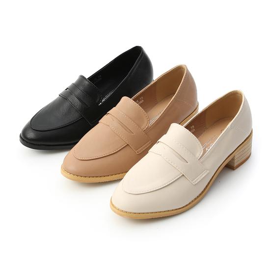 D+AF經典款木紋跟樂福鞋 粗跟樂福鞋(低跟包鞋)