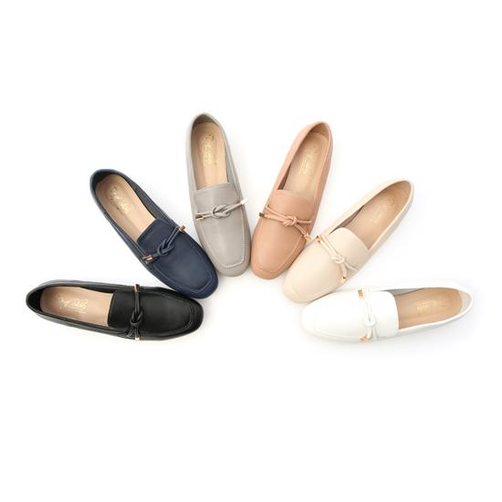 D+AF小金飾綁結柔軟樂福鞋 樂福鞋