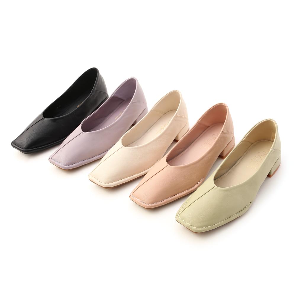 D+AF超軟V口素面包鞋 低跟鞋推薦