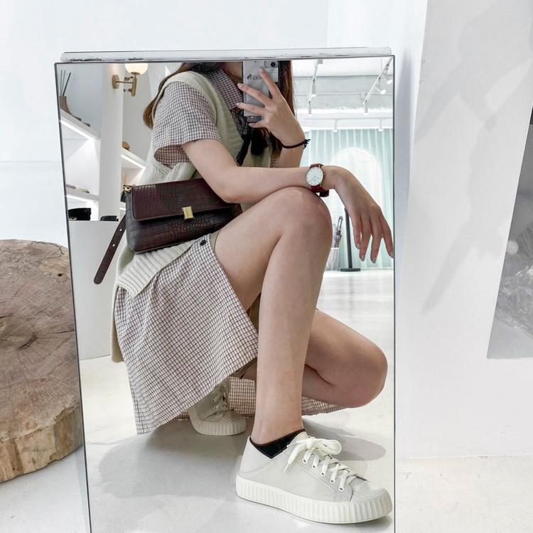D+AF可後踩2way皮質餅乾鞋穿搭 敦南門市 東區門市女鞋店員穿搭示範