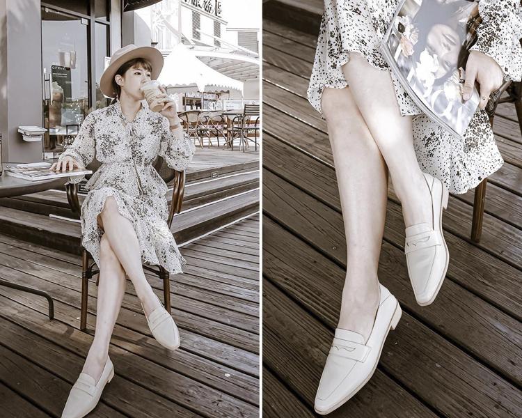 D+AF 樂福鞋穿搭美學 素面樂福鞋穿搭照