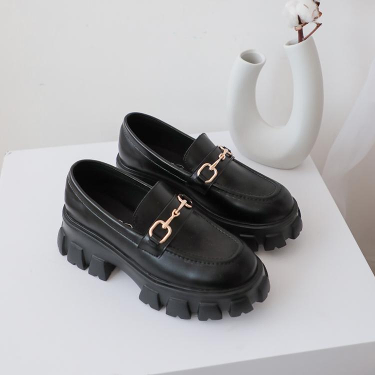D+AF 樂福鞋穿搭美學 鋸齒樂福鞋 馬銜釦鋸齒鞋