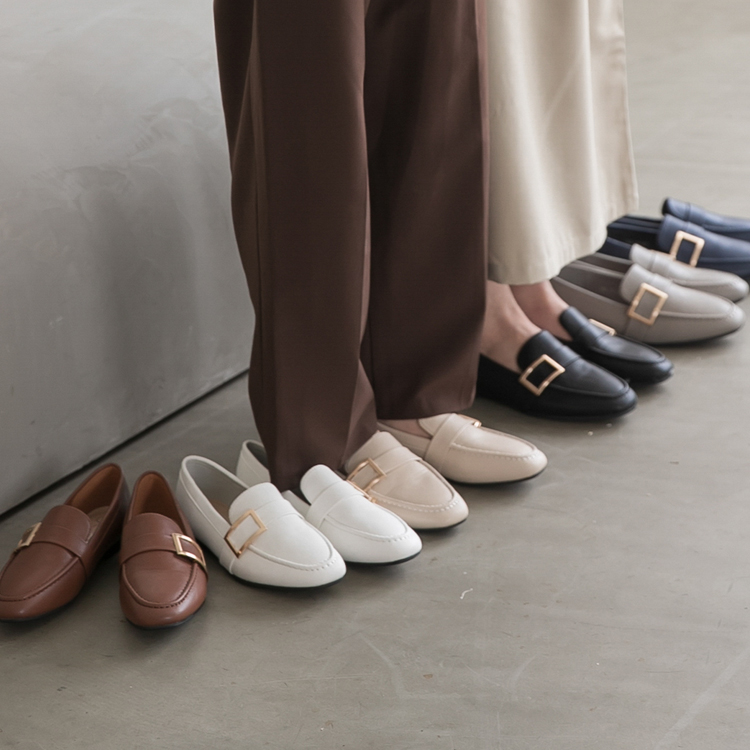 D+AF樂福鞋穿搭美學 金屬大方釦平底樂福鞋 品味生活