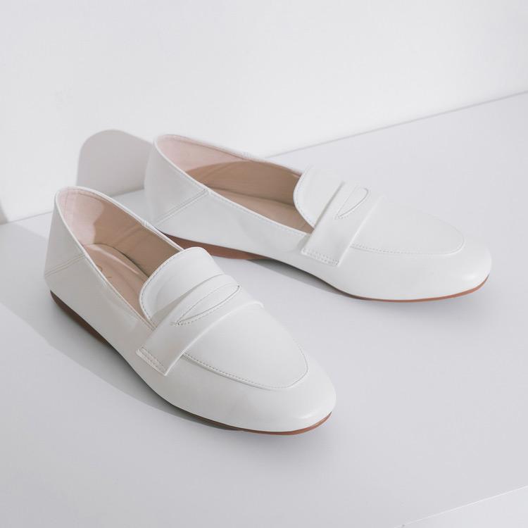 D+AF 門市小姐姐樂福鞋穿搭 鬆糕底馬銜釦樂福鞋 復刻經典