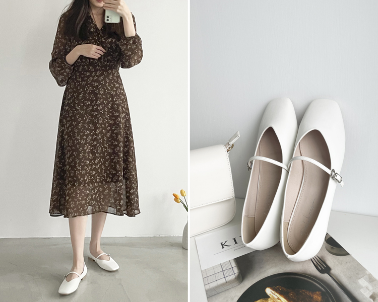 D+AF 2021小白鞋推薦鞋款 小編白鞋穿搭 玩美Girl 瑪莉珍小白鞋
