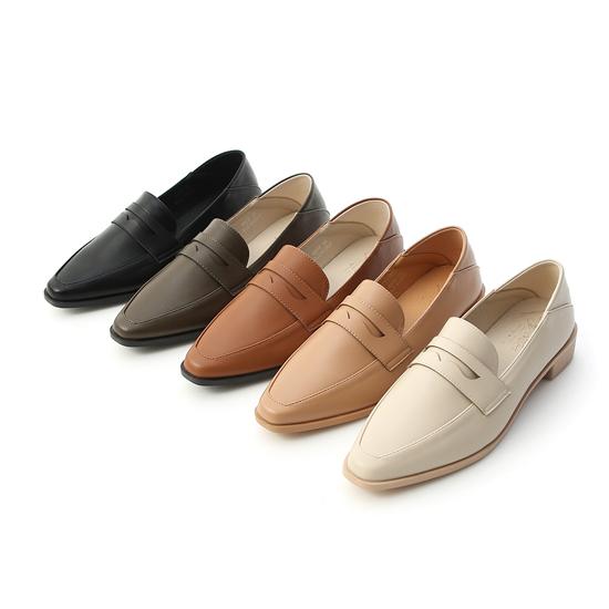 紳士格調.經典款微尖頭樂福鞋 五色可選