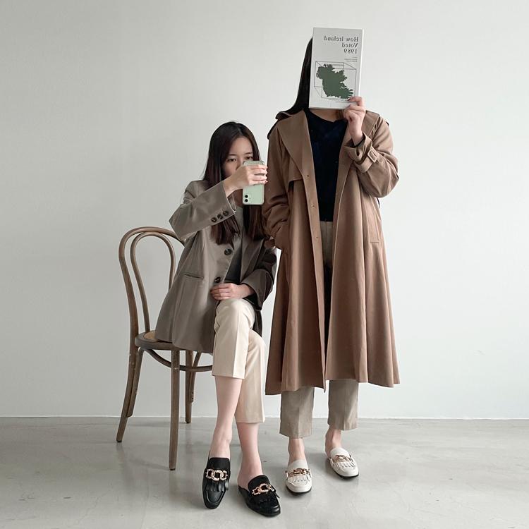 金屬環釦流蘇穆勒鞋 小編實穿搭配