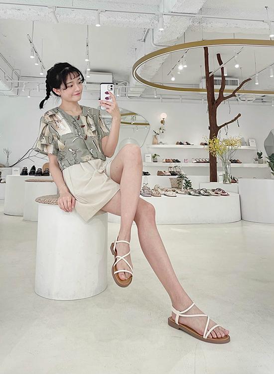 D+AF交叉細帶平底涼鞋 涼鞋穿搭 敦南門市 台北東區