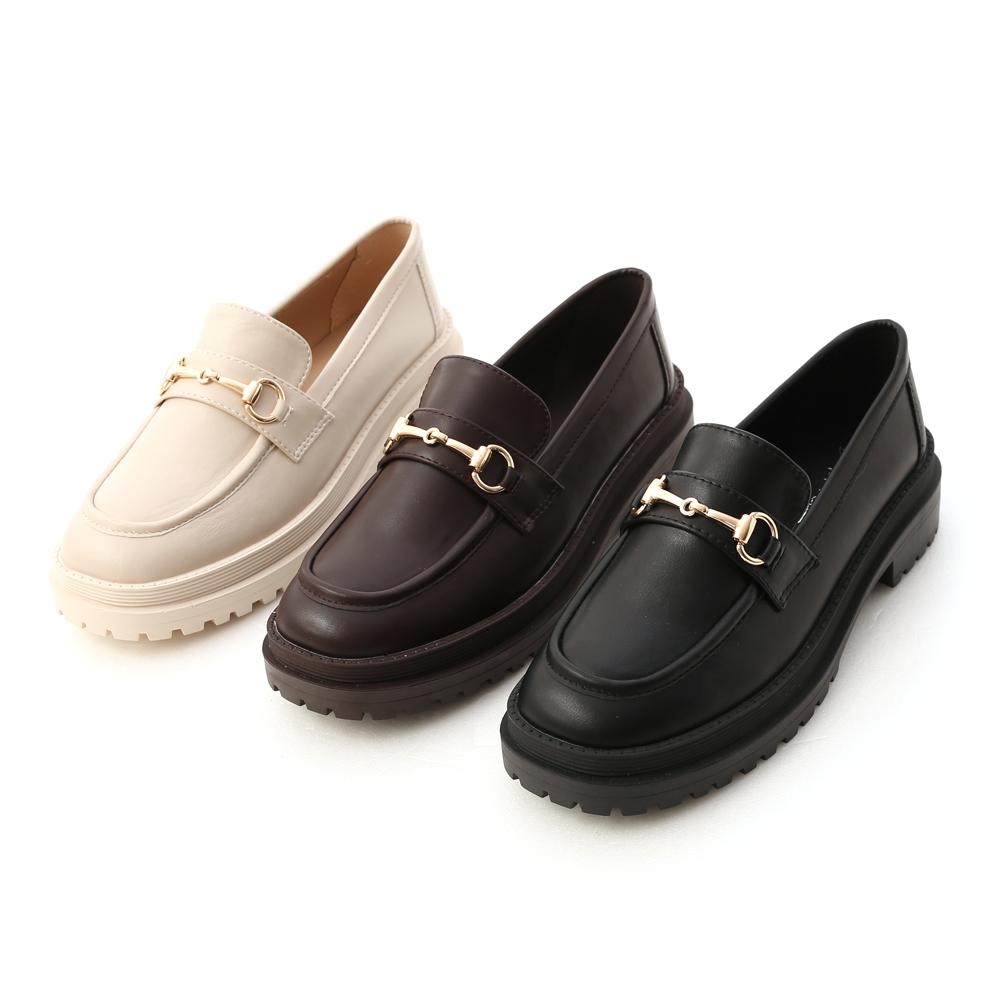 D+AF鬆糕底馬銜釦樂福鞋 鬆糕鞋穿搭 鬆糕鞋推薦