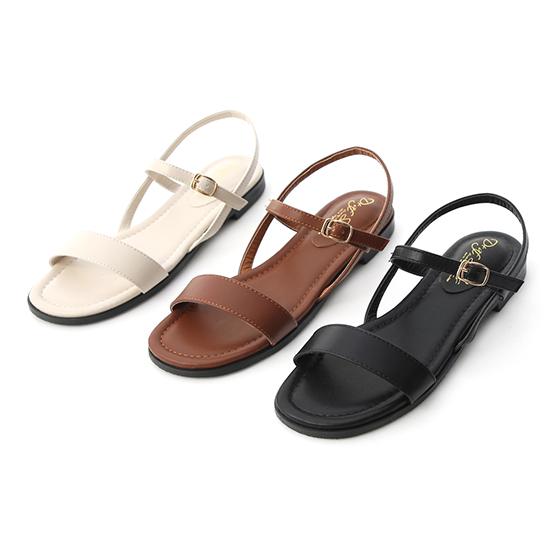 D+AF一字寬版繫帶平底涼鞋搭配牛仔褲 一字涼鞋穿搭推薦