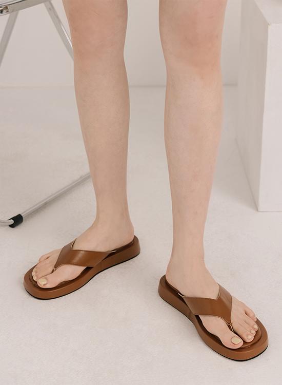D+AF人字寬帶夾腳厚底拖鞋 宅時尚 女鞋
