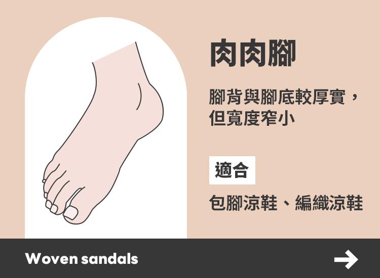 D+AF各種腳型適合的涼鞋 肉肉腳推薦涼鞋