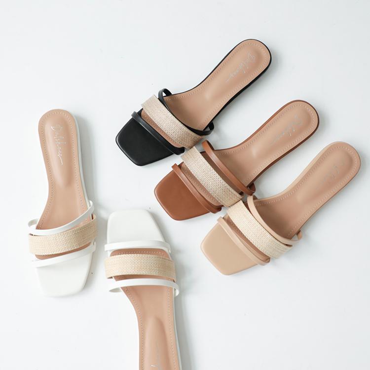 D+AF拇指外翻涼鞋推薦 輕夏微風 草編涼鞋 草編平底涼鞋