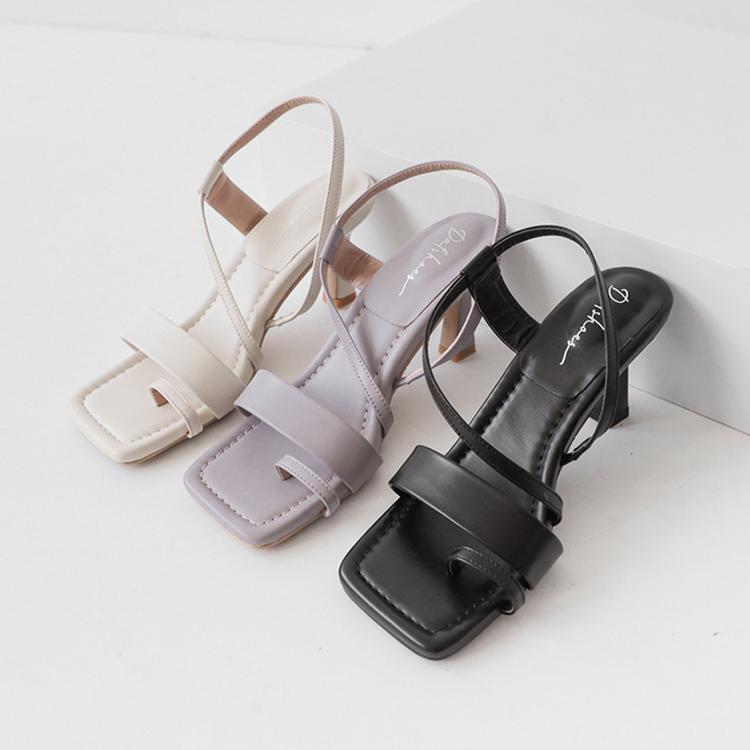D+AF羅馬腳涼鞋推薦 方頭涼鞋 方頭套指涼鞋 方頭酒杯跟涼鞋