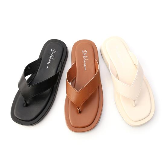 羅馬腳涼鞋推薦 寬圓型涼鞋 夾腳厚底涼鞋 人字寬帶涼鞋