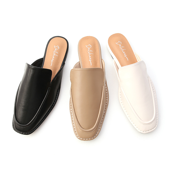 D+AF立體車線平底穆勒鞋
