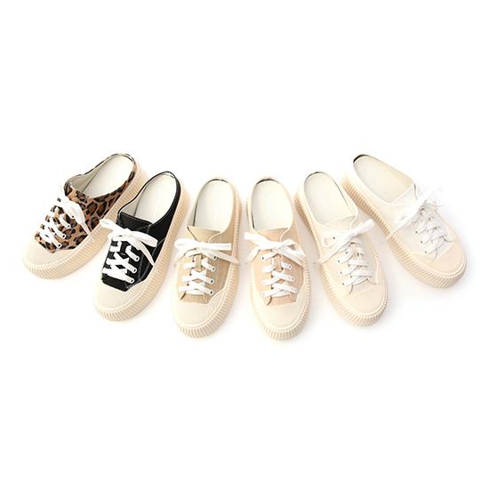 D+AF休閒帆布厚底穆勒鞋