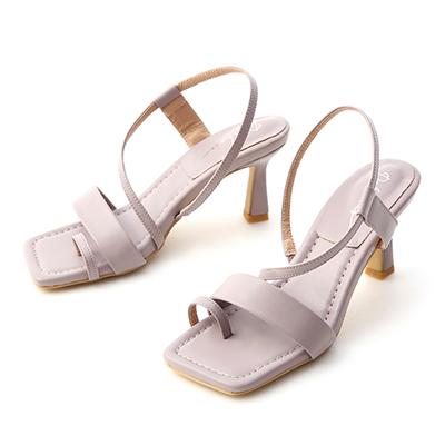 D+AF一字套指酒杯跟涼鞋  紫色涼鞋推薦 跟鞋 方頭