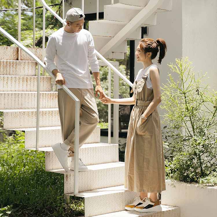 D+AF撞色拼接增高運動鞋 運動風 休閒風 逸歡聯名 運動鞋 穿搭 情侶穿搭