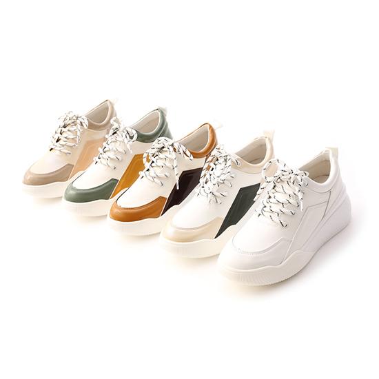 D+AF撞色拼接增高運動鞋