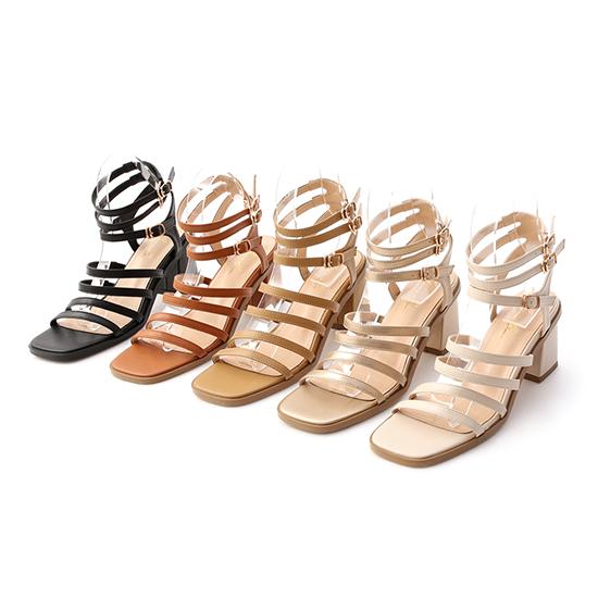 D+AF多層次環釦羅馬涼鞋