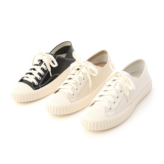 可後踩2way皮質餅乾鞋 黑色 米色 白色兩穿餅乾鞋
